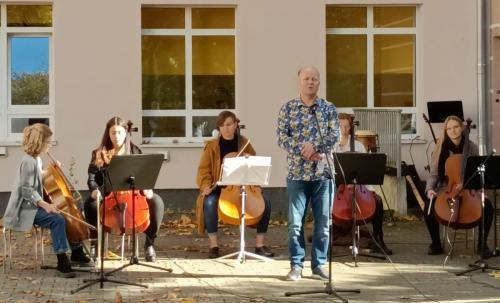 Występ zespołu wiolonczelowego Cellofuny z Olsztyńskiej Filharmonii3