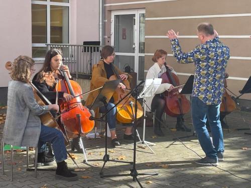 Występ zespołu wiolonczelowego Cellofuny z Olsztyńskiej Filharmonii8